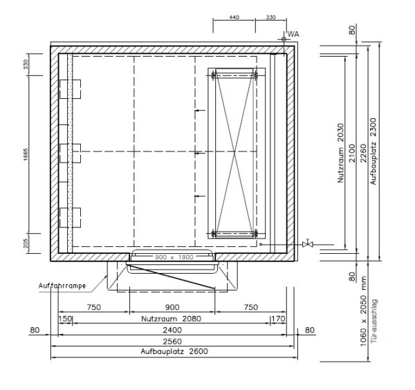 [44M] Automat chłodniczo-garowniczy KOMA CDS-M-1-90-240-210/HMQ