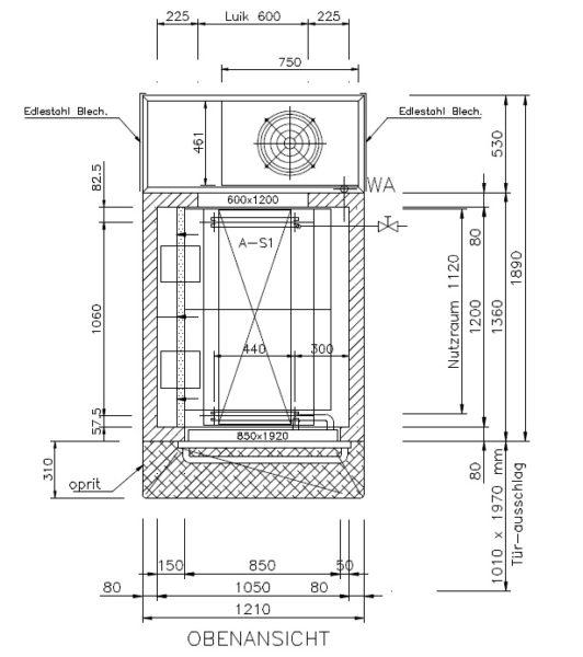 [46M] Automat chłodniczo-garowniczy KOMA CDS-M-1-85-105-120/HMQ